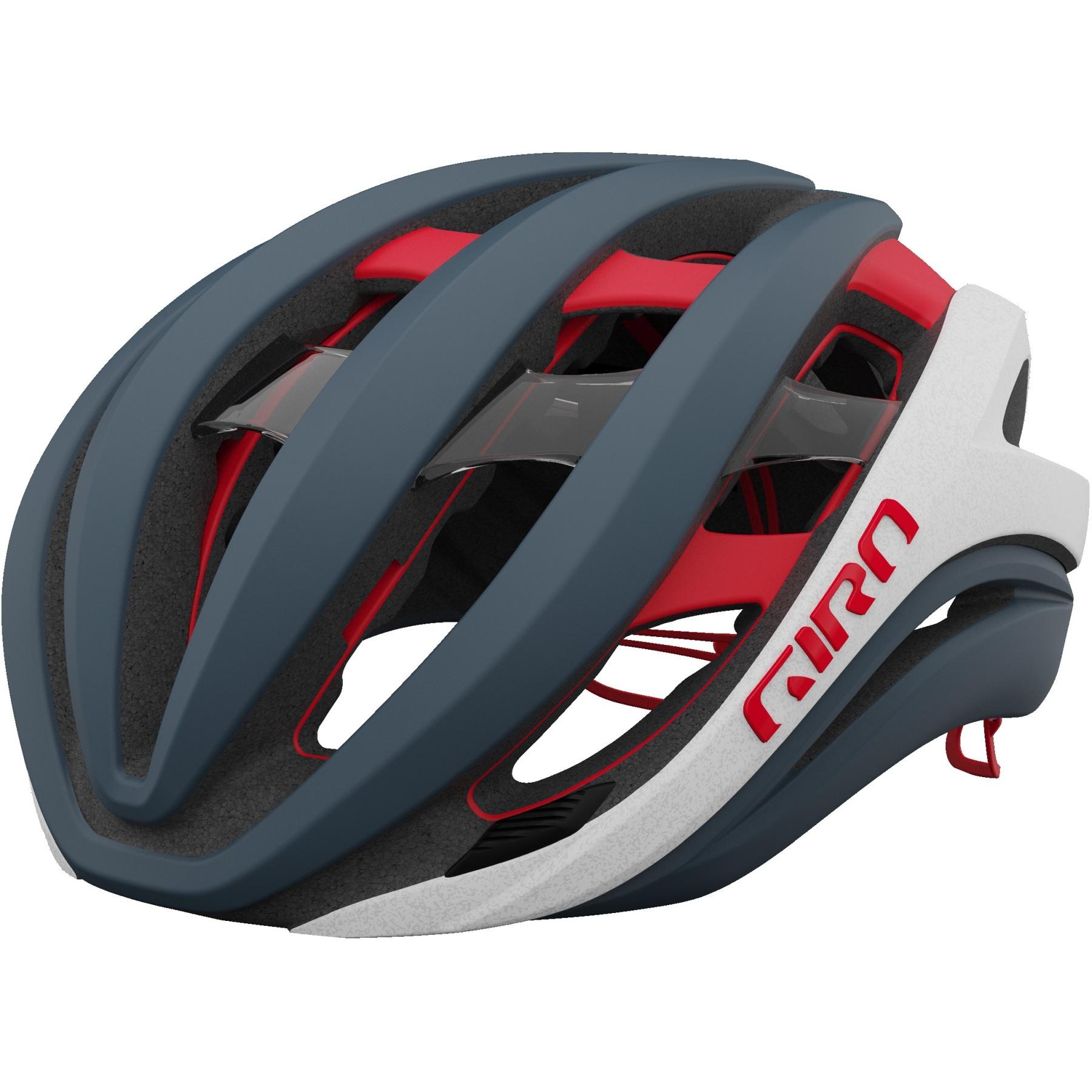 Giro Aether Spherical MIPS Helm - matte portaro grey / white / red