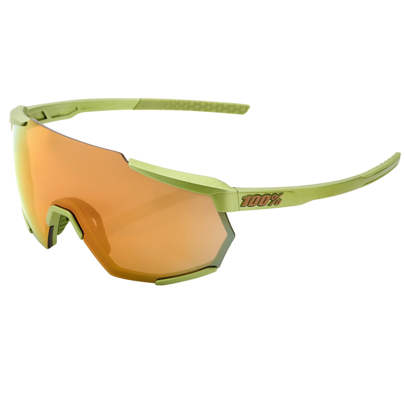 100% Racetrap Mirror Gafas - Matte Metallic Viperidae/Bronze Multilayer + Clear