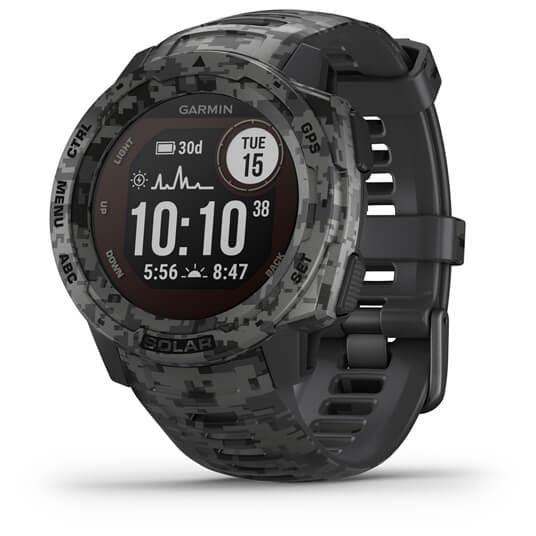 Garmin Instinct Solar Camo GPS Smartwatch - schiefergrau