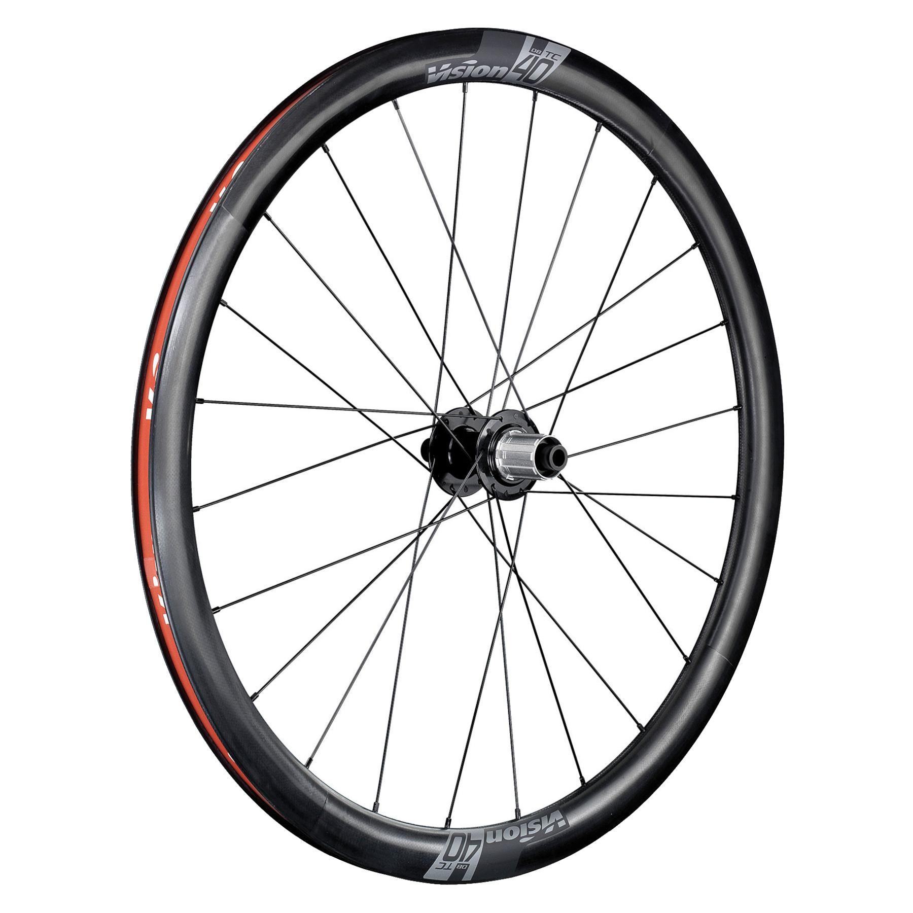 Bild von Vision TC 40 Disc Carbon Laufradsatz - TLR - Centerlock - 12x100mm | 12x142mm - Shimano HG