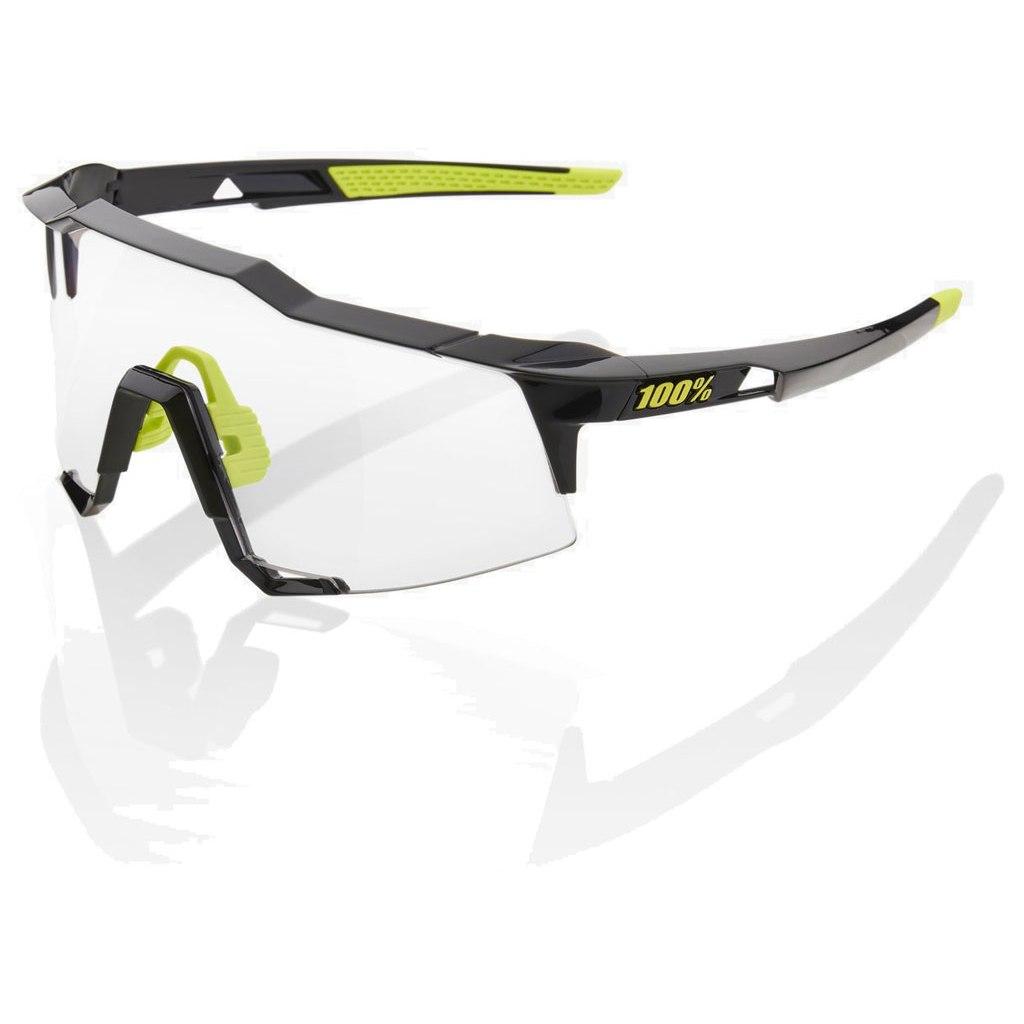 100% Speedcraft Tall Photochromic Glasses - Gloss Black
