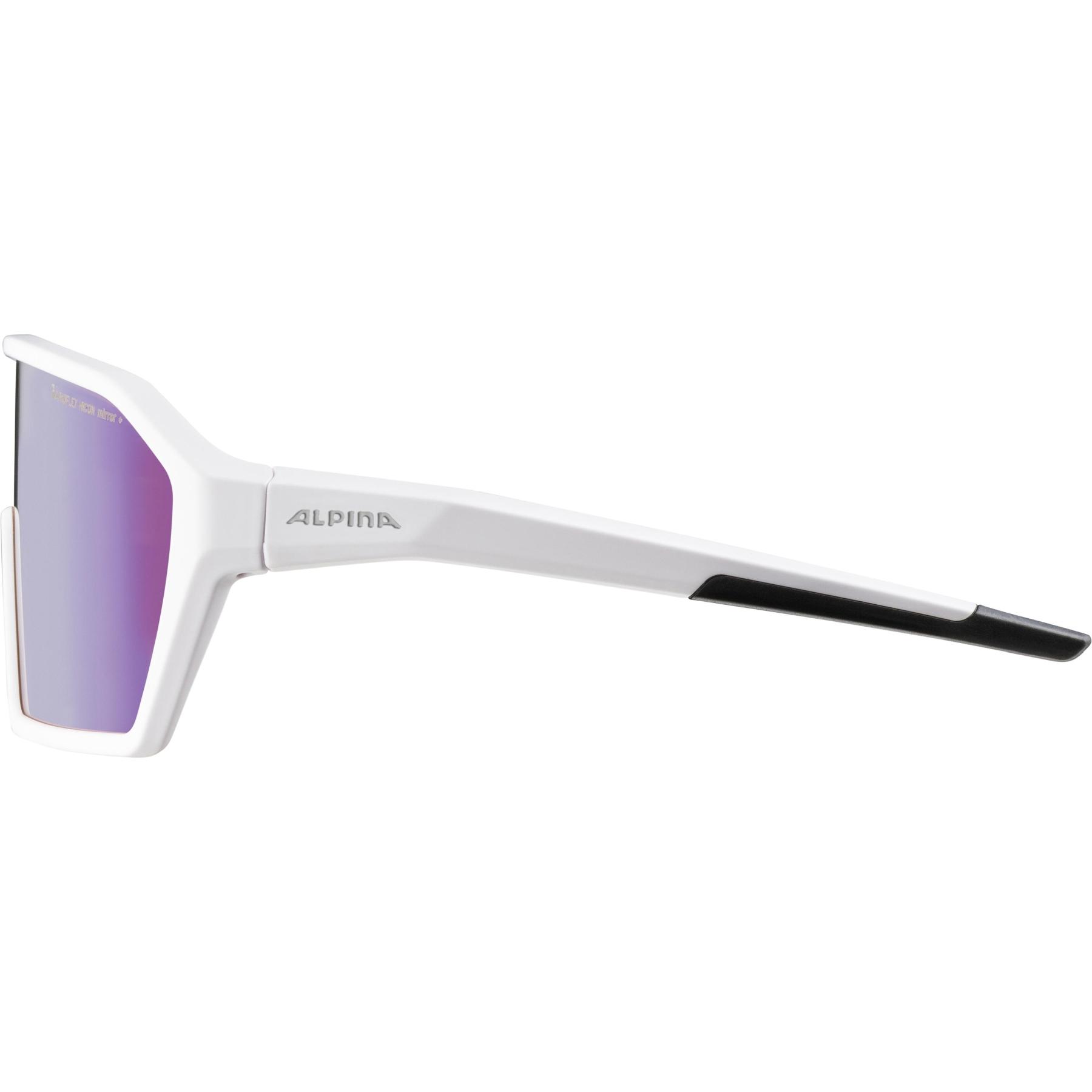 Image of Alpina Ram HVLM+ Glasses - white matt / Hicon Varioflex blue mirror