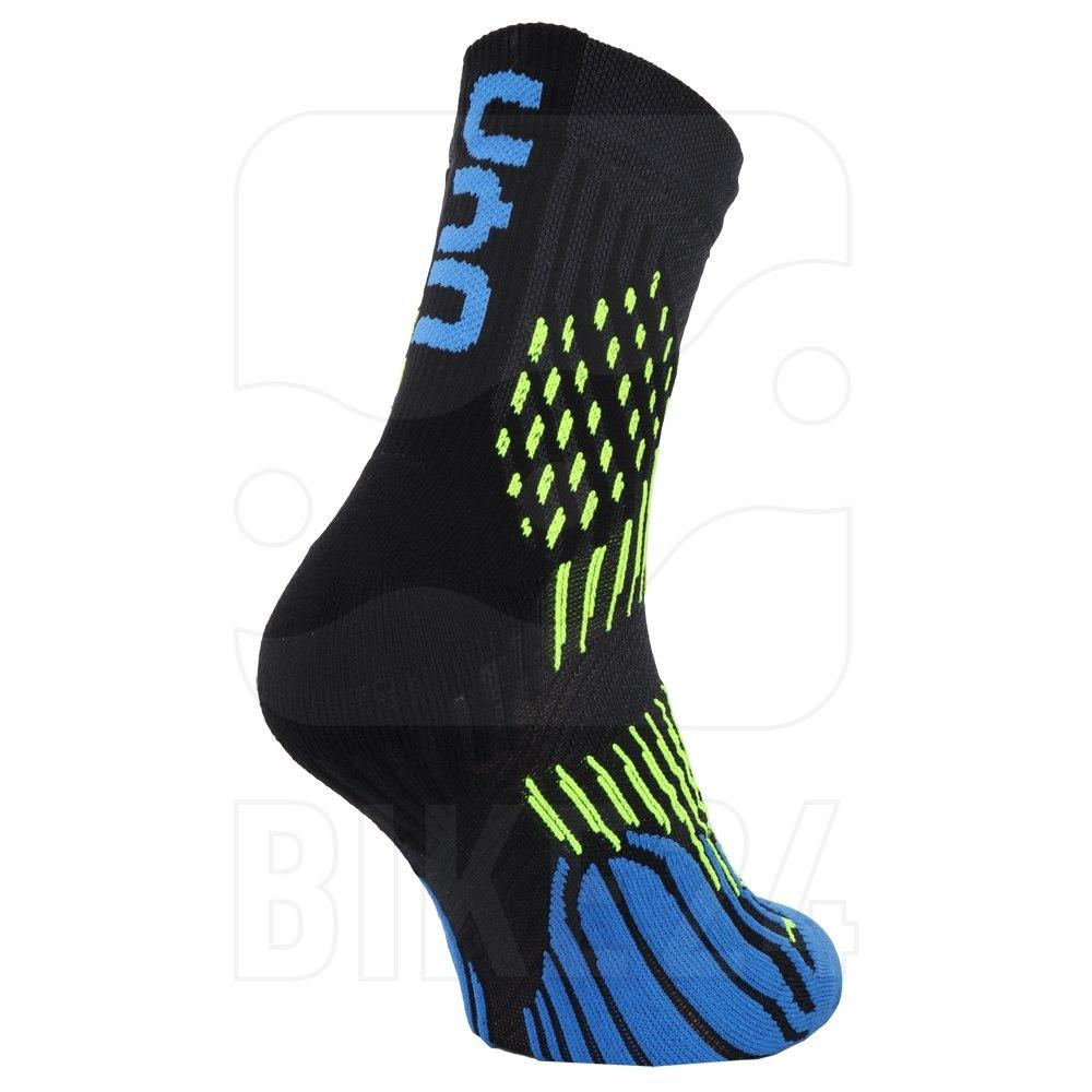 Bild von UYN Run Herren Shockwave Socken - anthracite/royal blue/yellow fluo