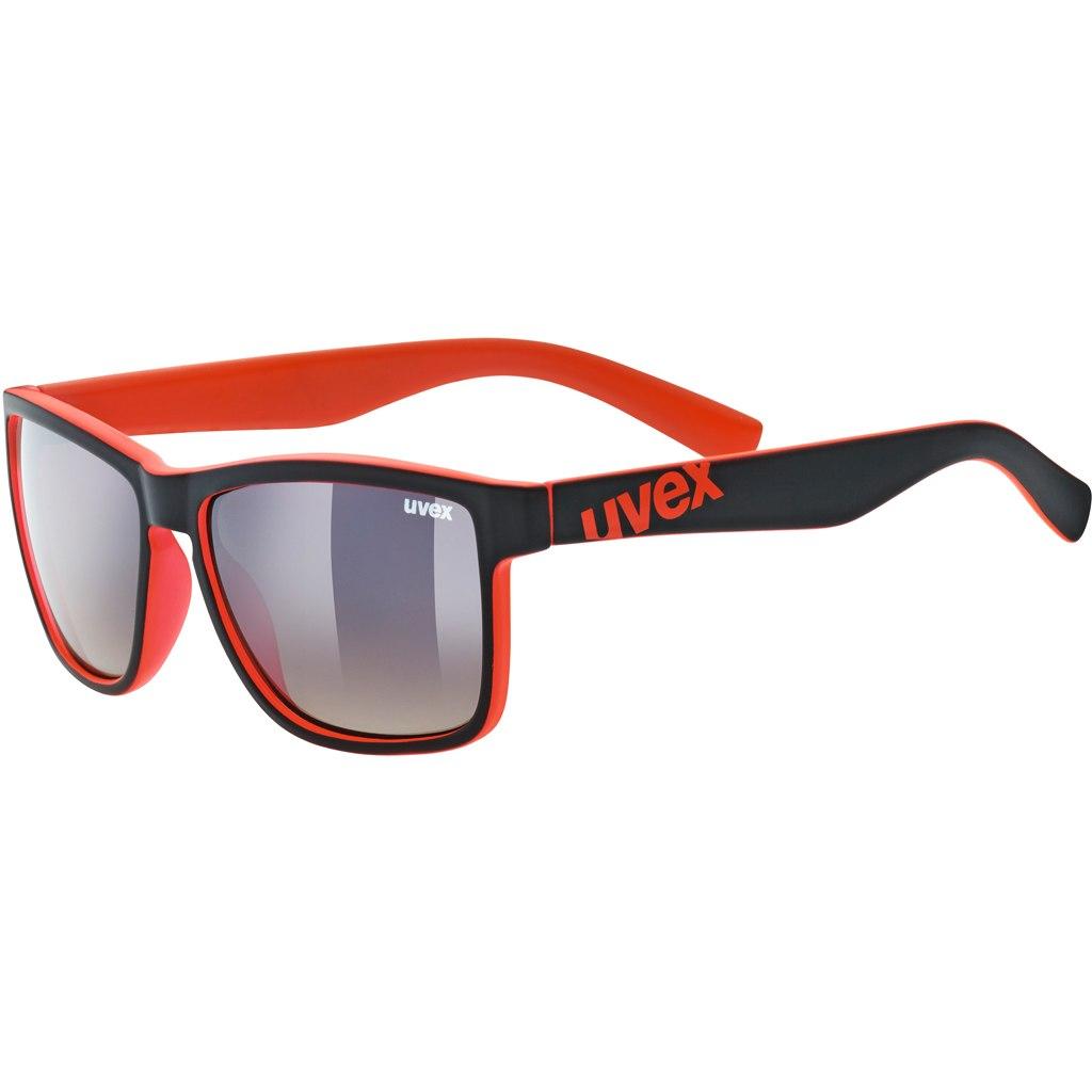 Uvex lgl 39 - black mat red/litemirror brown dégradé Glasses