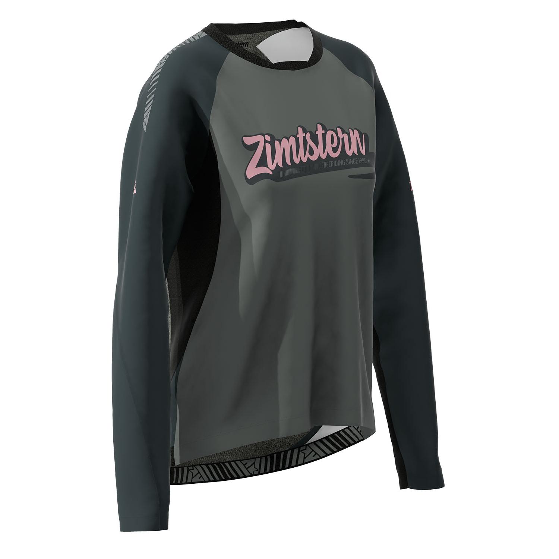 Bild von Zimtstern ProTechZonez Langarmshirt Damen - glacier grey/pirate black