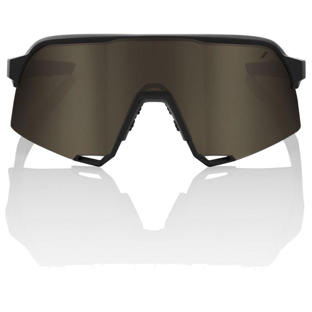 Imagen de 100% S3 Mirror Lens Gafas - Soft Tact Black/Soft Gold + Clear