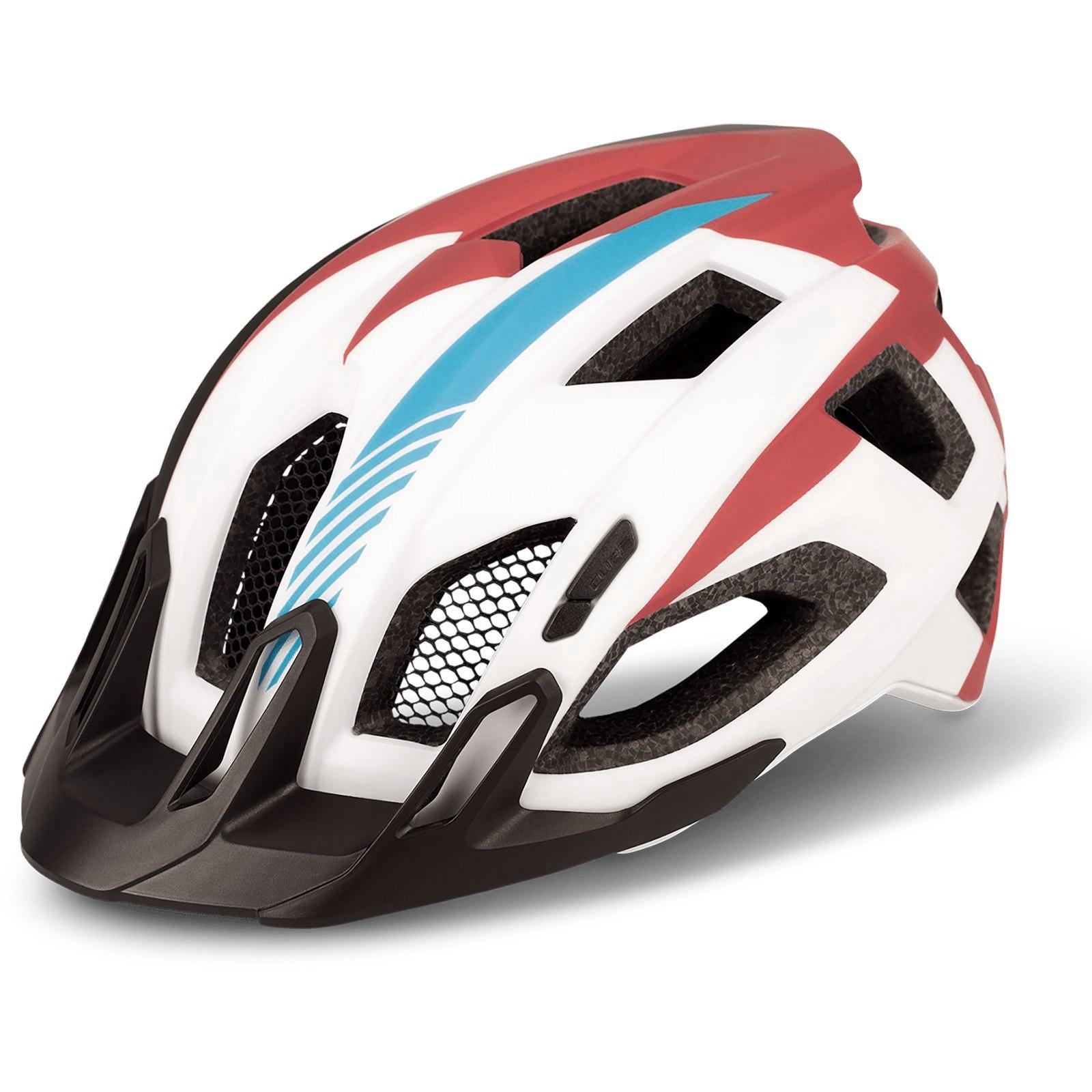 CUBE Helmet QUEST Teamline - white´n´blue´n´red