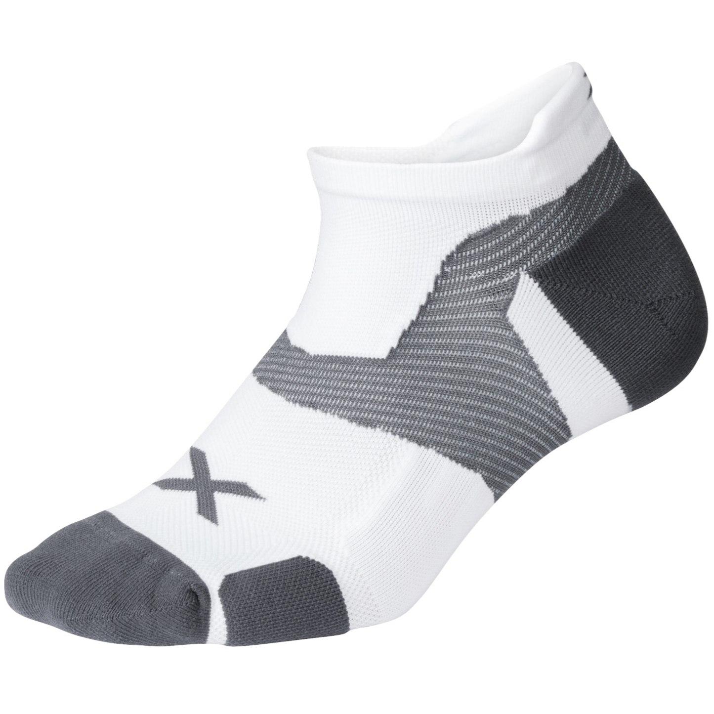 2XU Vectr Cushion No Show Socks - white/grey