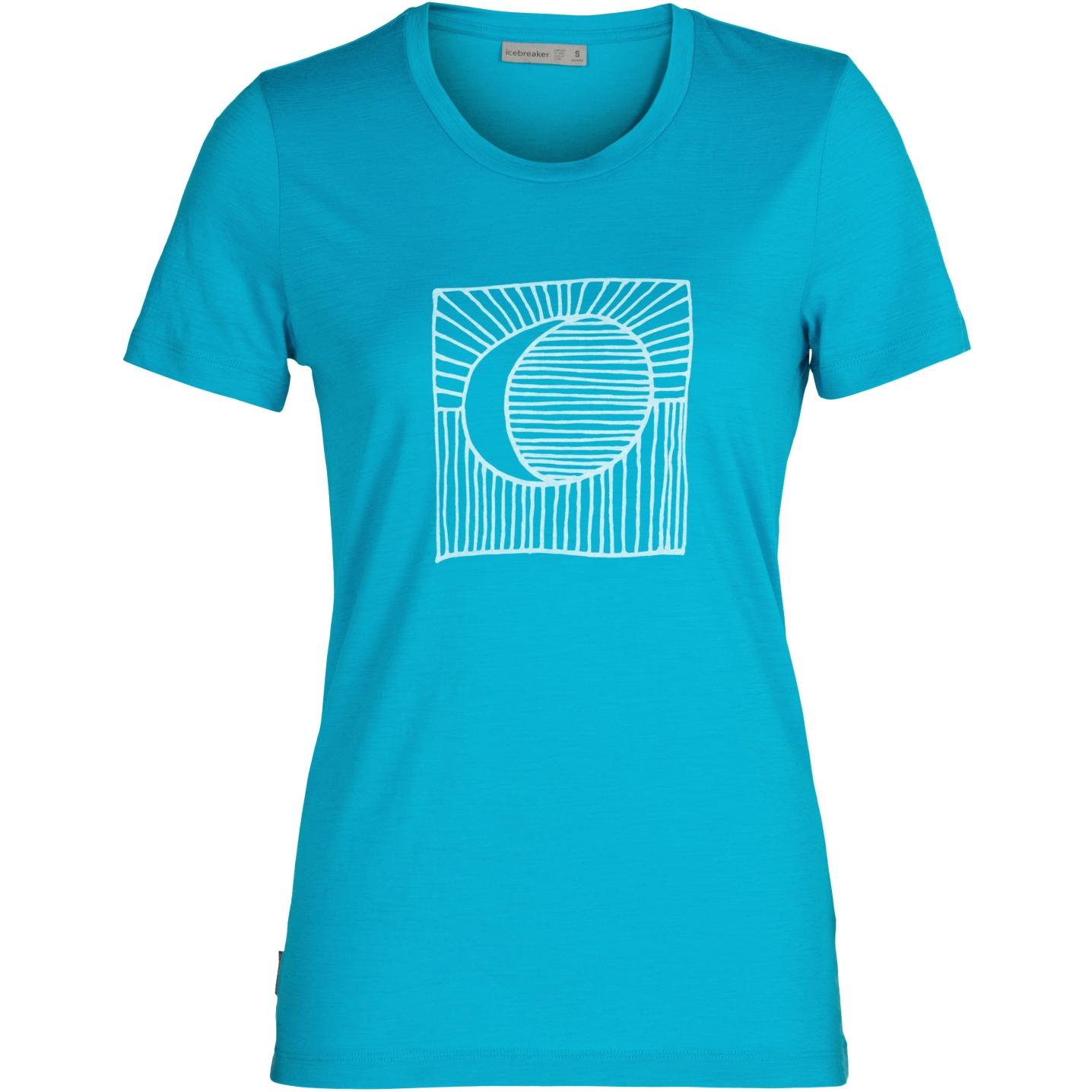 Produktbild von Icebreaker Tech Lite II Natures Orb Damen T-Shirt - Arctic Teal