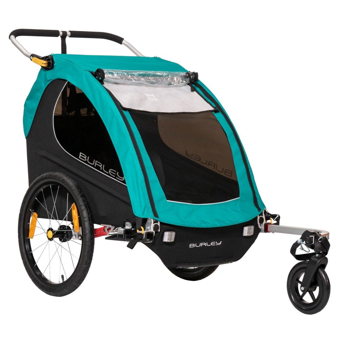 Foto de Burley Encore X Remolque de Bicicleta para 1-2 Niños con Capota - turquoise