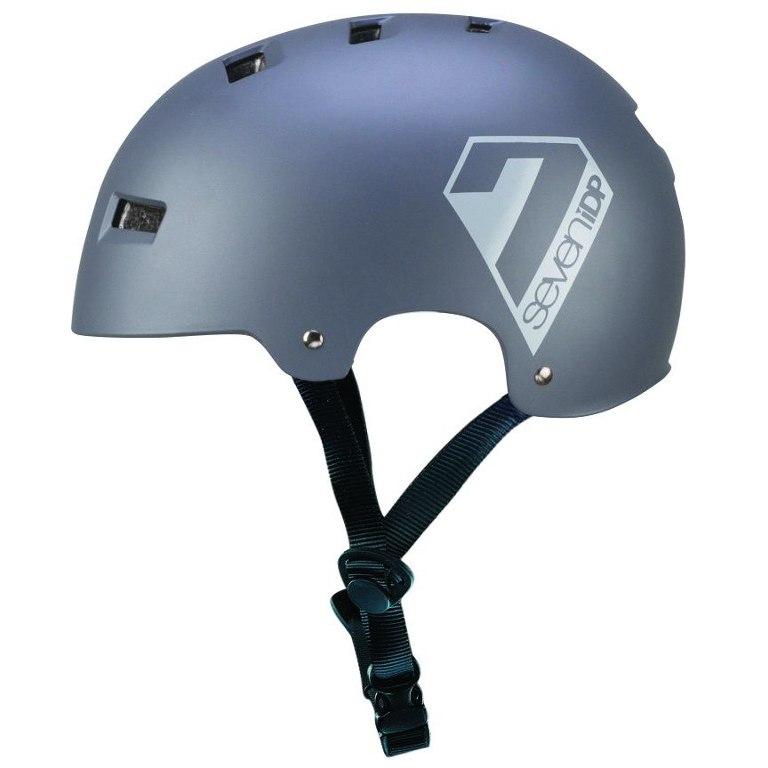 7 Protection 7iDP M3 Helmet 2018 - matt grey/gloss grey graphics