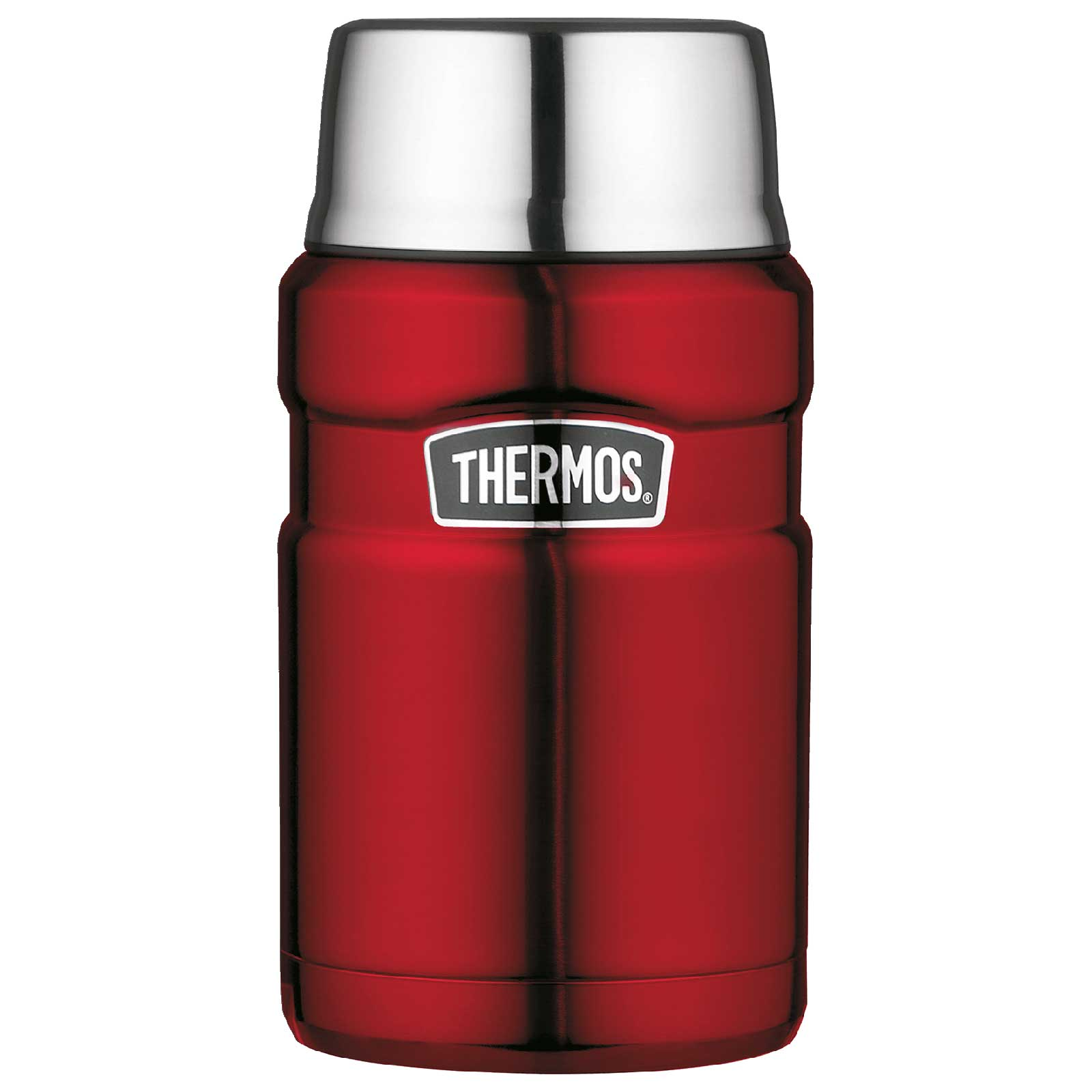 Thermos Stainless King Food Jar 0.71L Termo para Comida - cranberry red polished