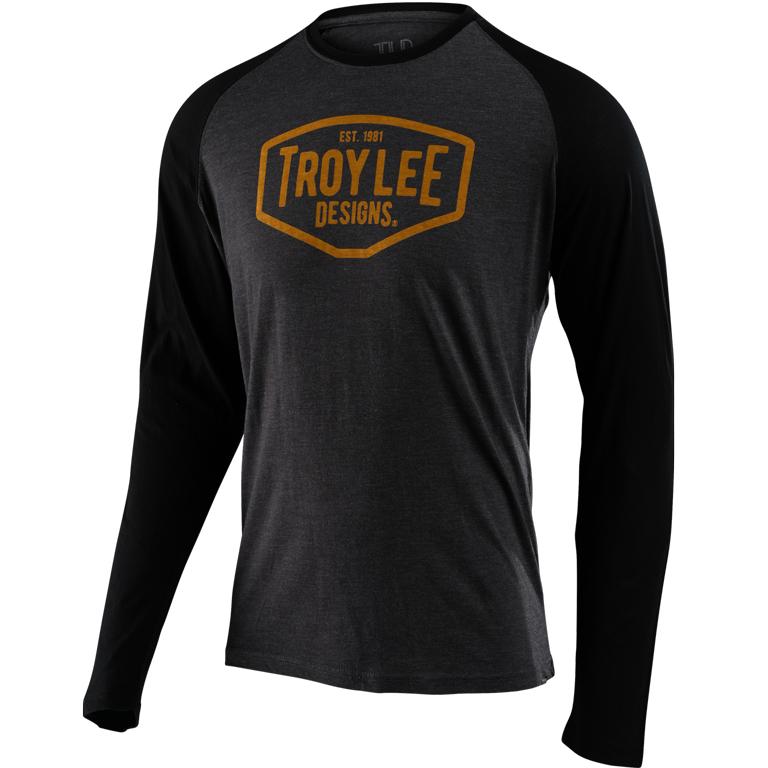 Produktbild von Troy Lee Designs Raglan Motor Oil Langarm-Shirt - Charcoal/Black
