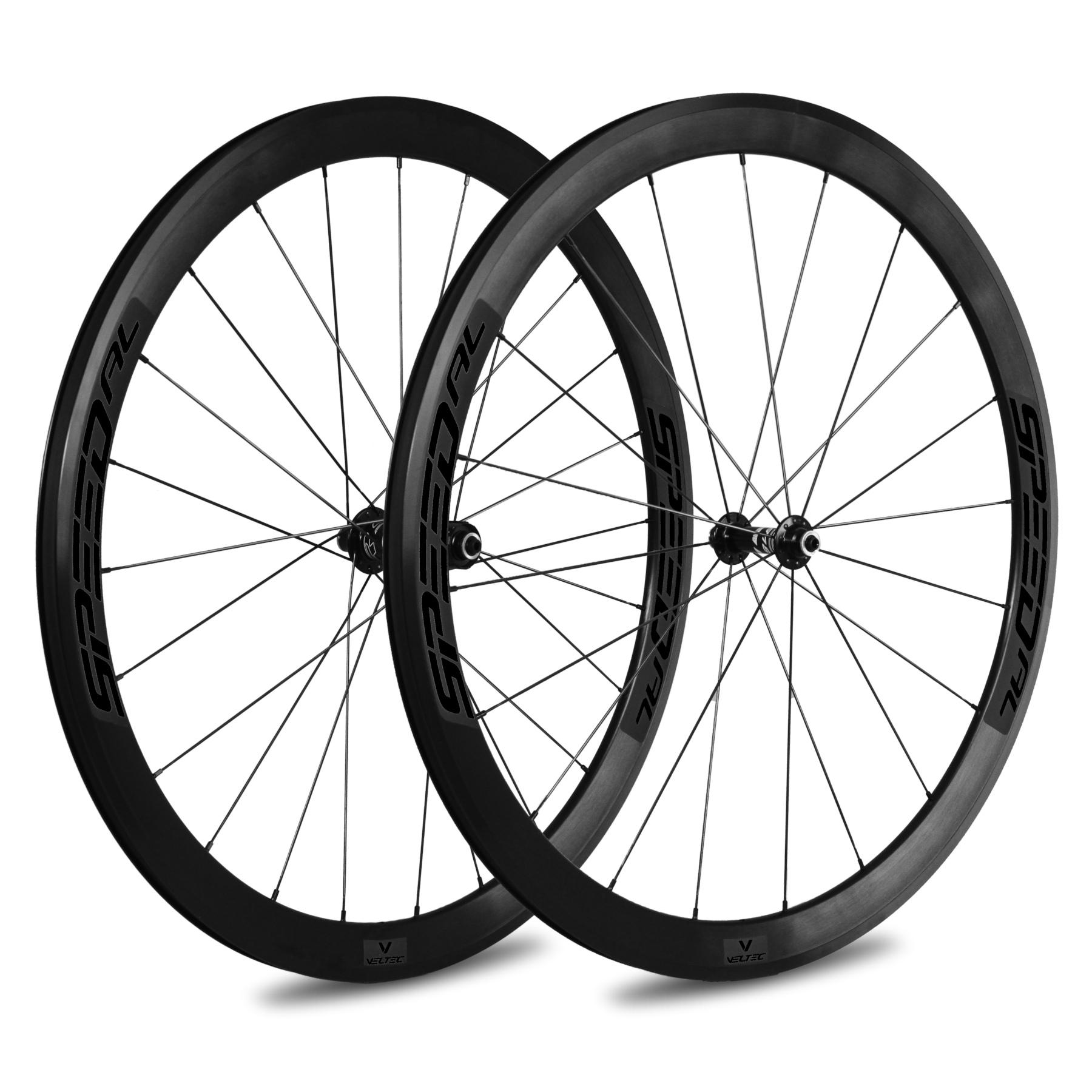 Veltec Speed AL Laufradsatz - Drahtreifen - QR100/QR130 - Campagnolo ED - schwarz