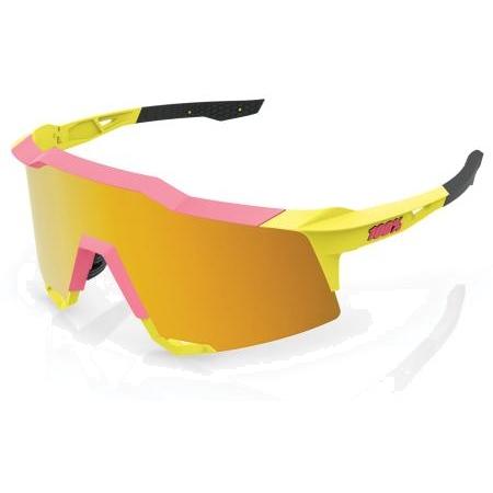 Imagen de 100% Speedcraft - Tall - Mirror Lense Gafas - Washed Out Neon Yellow/Flash Gold + Clear