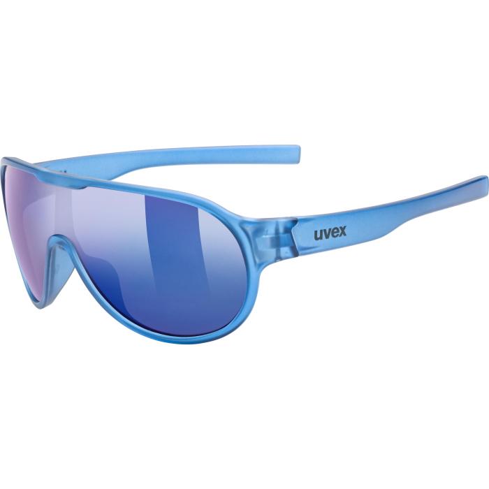 Uvex sportstyle 512 Kids Glasses - blue transparent - mirror blue
