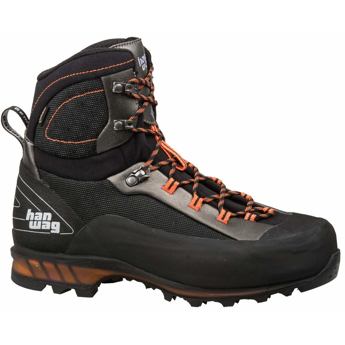 Hanwag Ferrata GTX II Shoe - Black/Orange