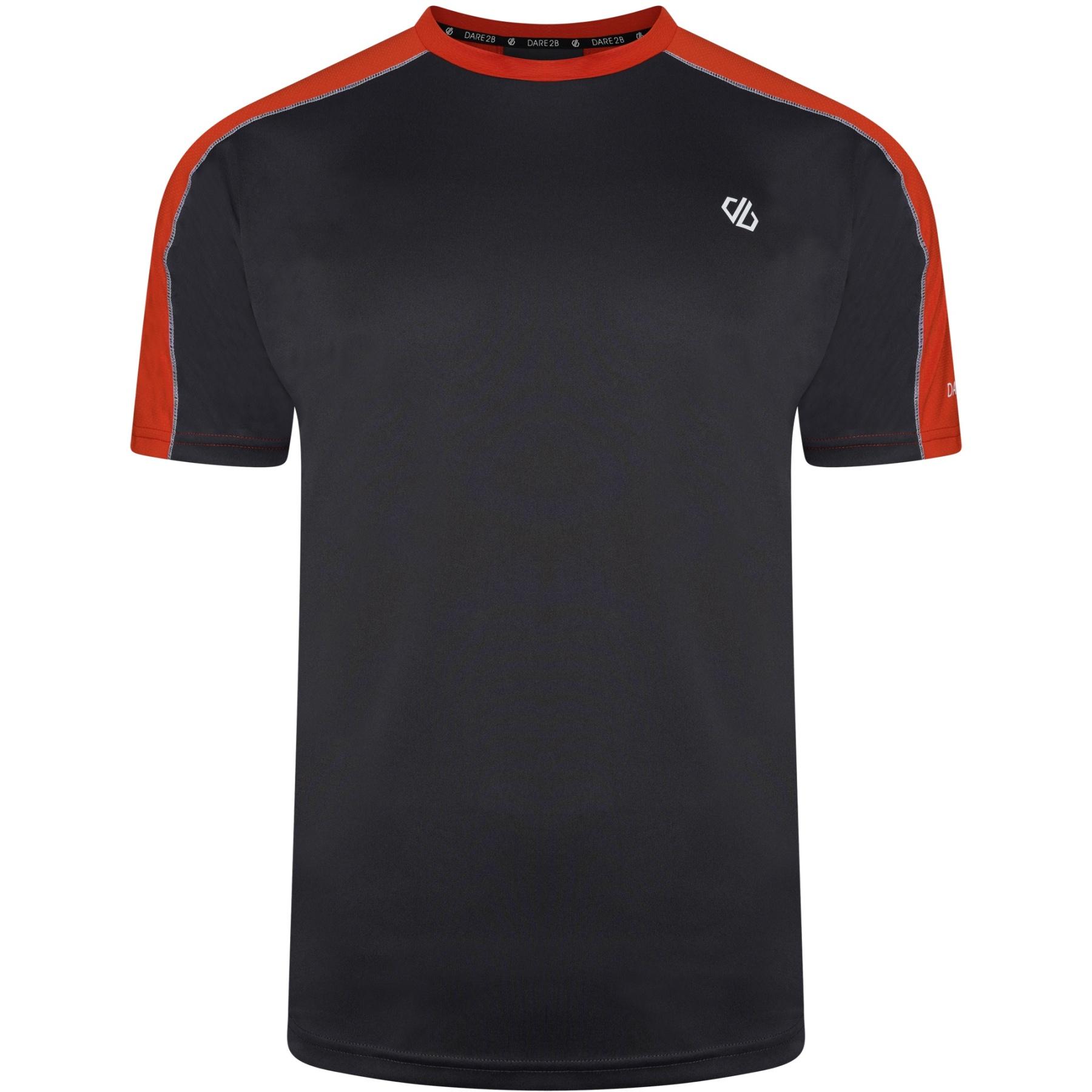 Dare 2b Discernible Tee Shirt - IID Ebony Grey/Trail Blaze