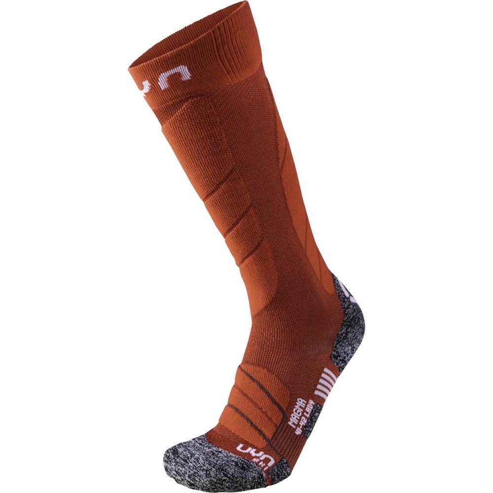 UYN Ski Magma Socken Damen - Dark Red/Red
