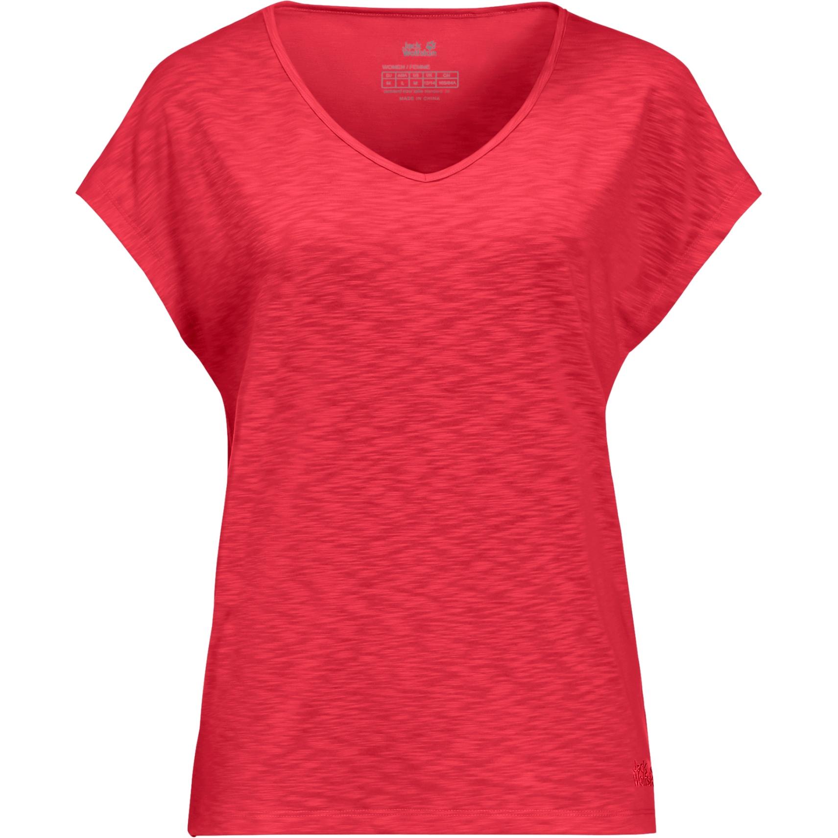 Jack Wolfskin Travel T W Damen T-Shirt - tulip red