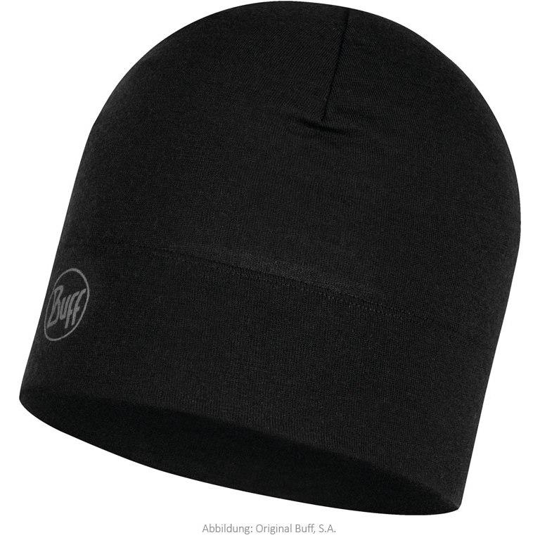 Buff® Midweight Merino Wool Hat - Solid Black