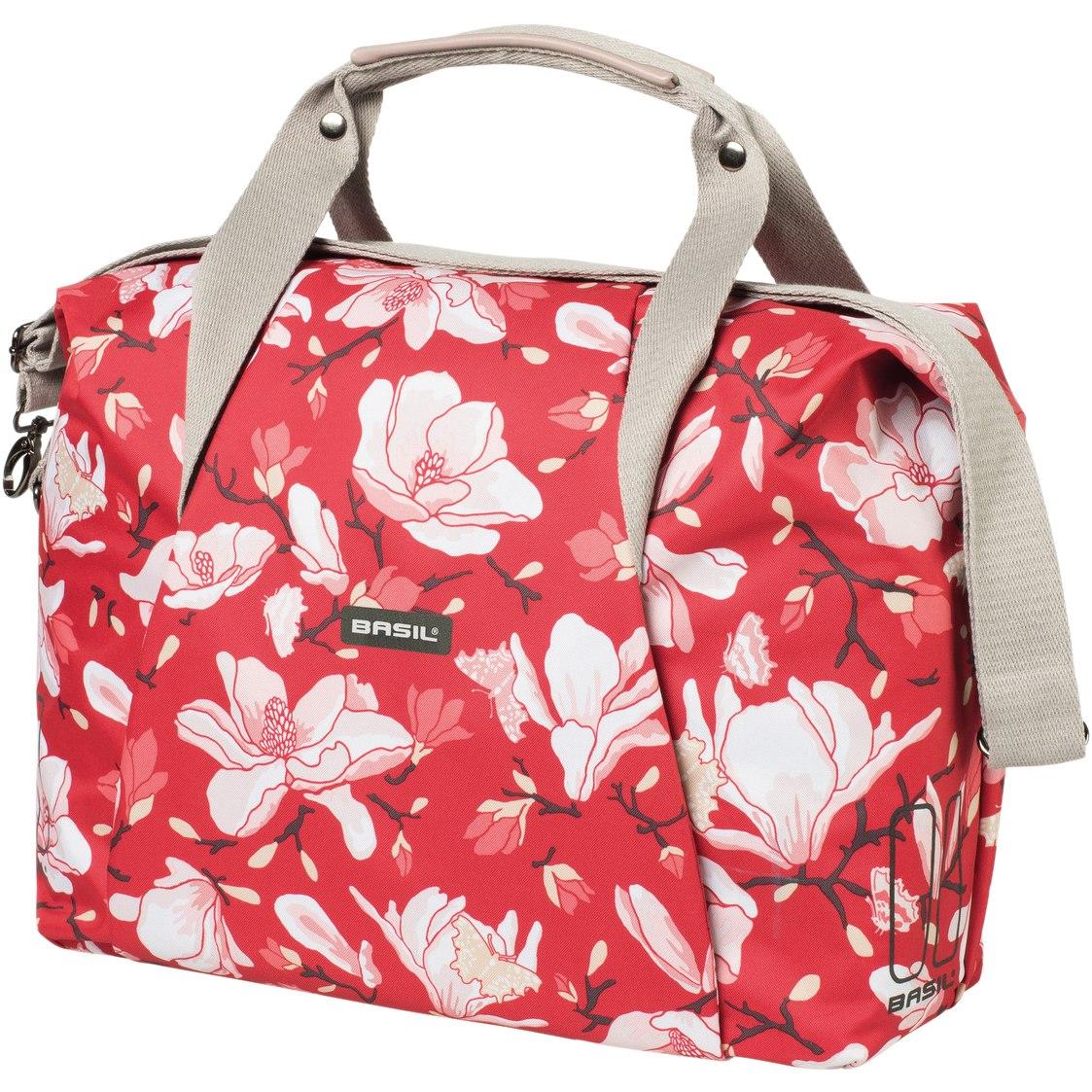 Basil Magnolia Carry All Bag - Shoulder / Carrier Bag - poppy red