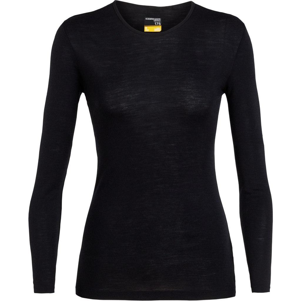 Produktbild von Icebreaker 175 Everyday Crewe Damen Langarmshirt - Black