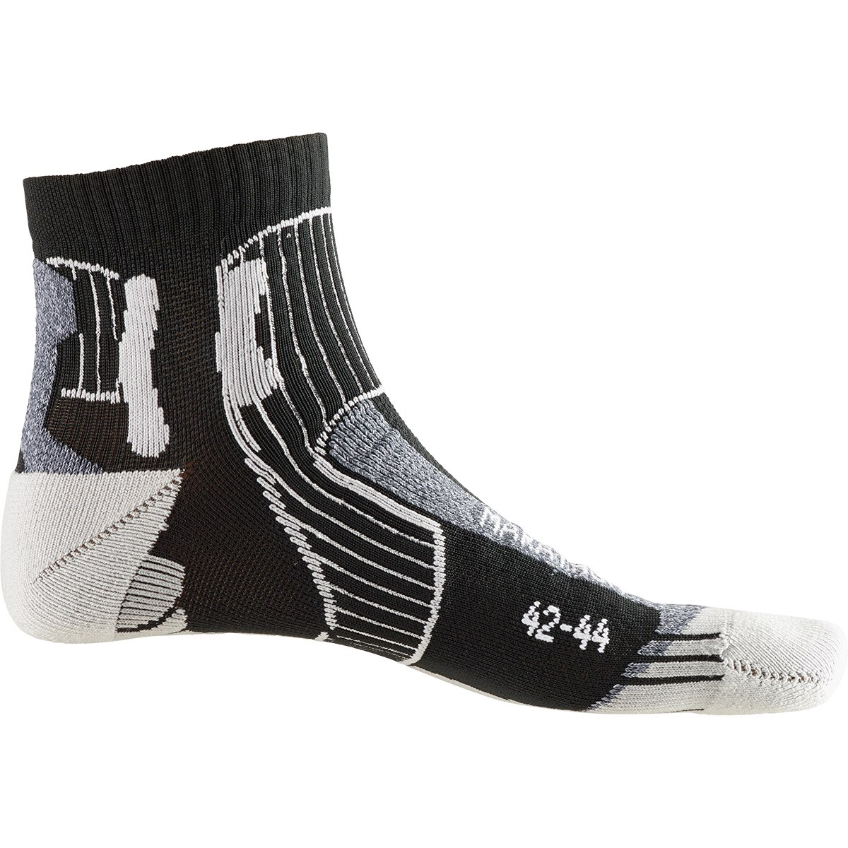 X-Socks Marathon Energy Laufsocken - black/anthracite print
