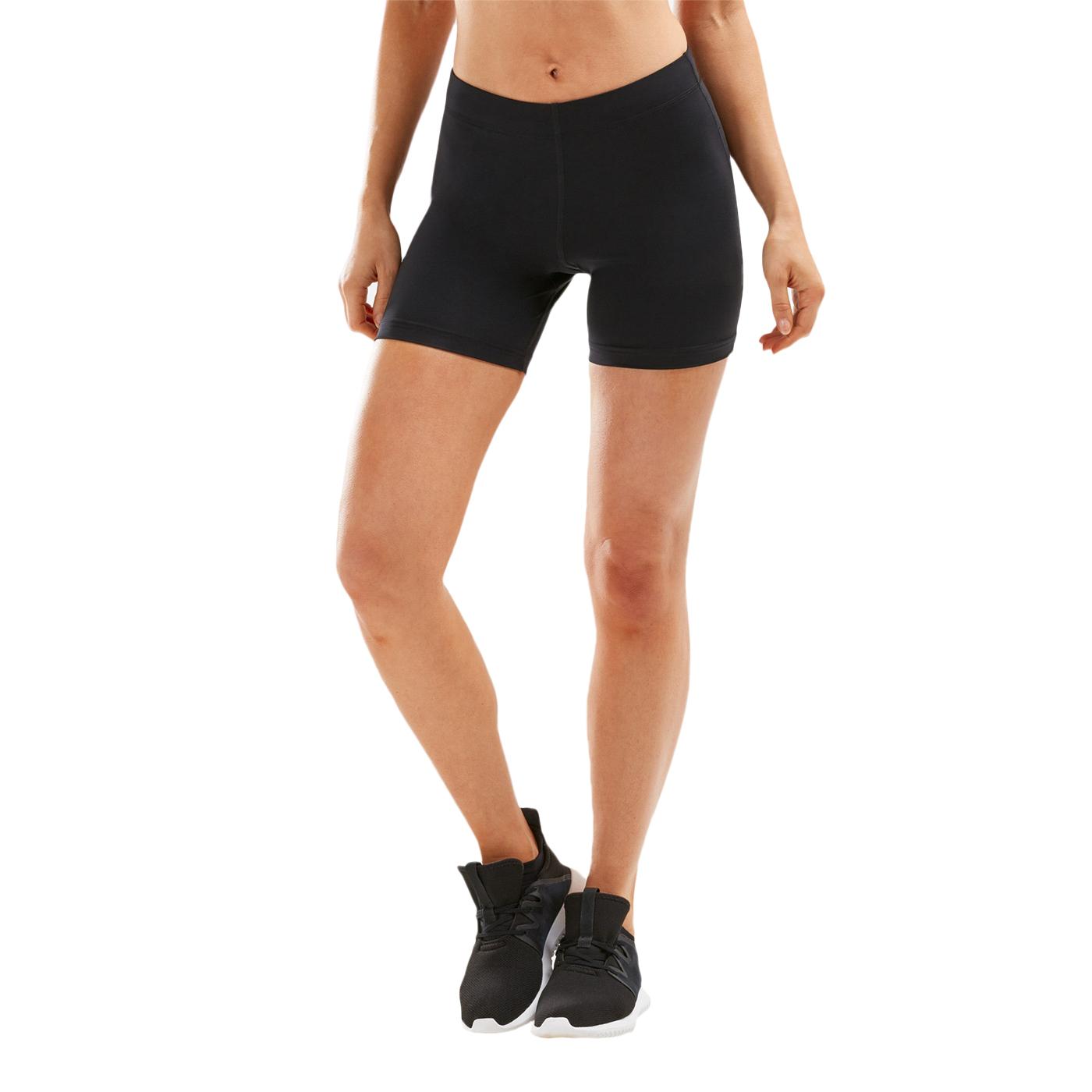 """Imagen de 2XU ASPIRE Compression 4"""" Pantalones cortos para mujer - black/silver"""