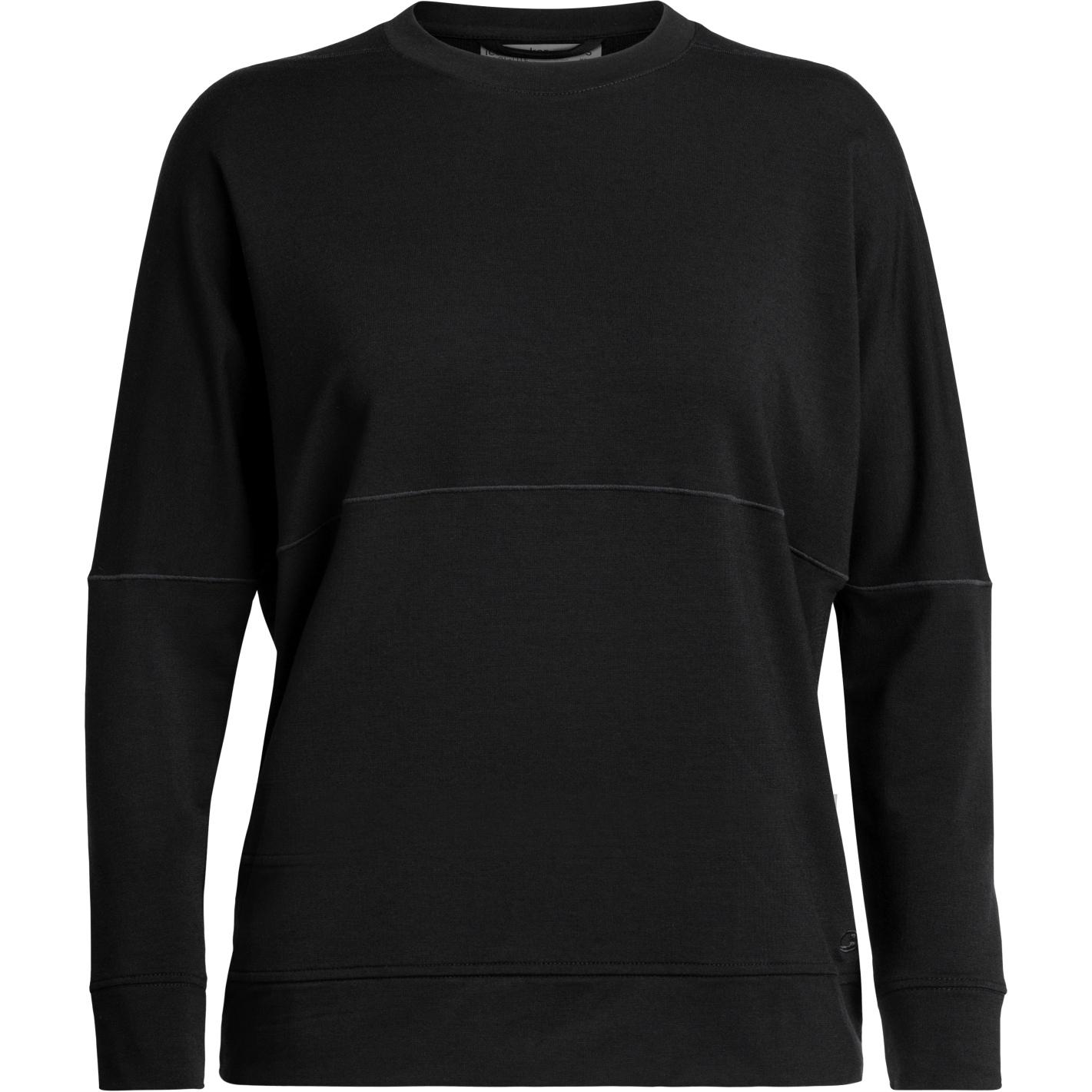 Produktbild von Icebreaker Momentum Crewe Damen Langarmshirt - Black