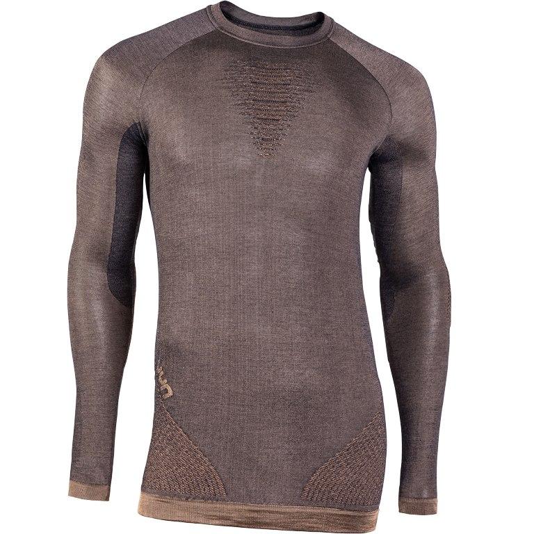 Bild von UYN Cashmere Herren Shiny Unterhemd mit langen Ärmeln und Rundhalsausschnitt - celebrity gold