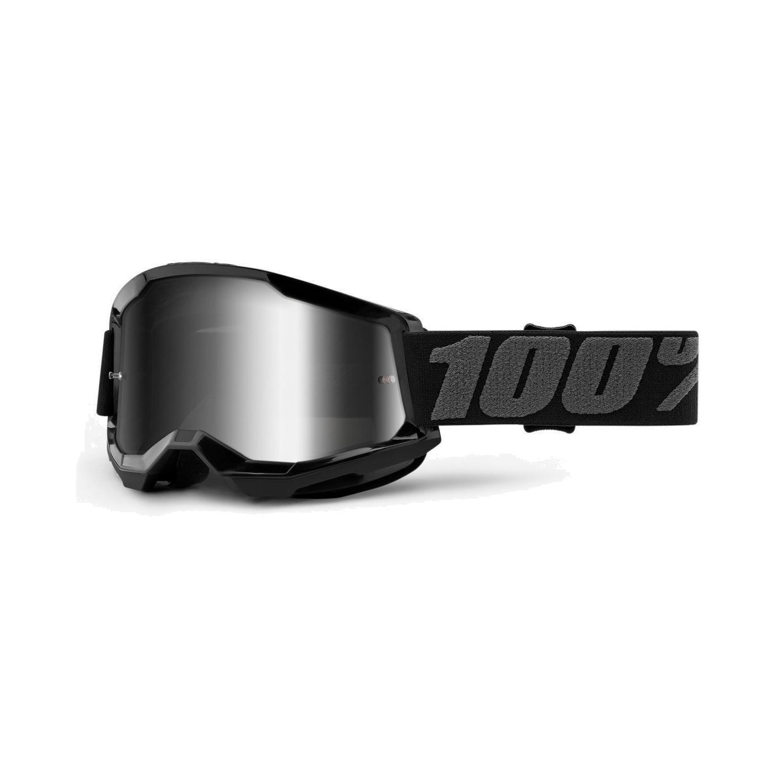 100% Strata 2 Goggle Mirror Lens Gafas - Black