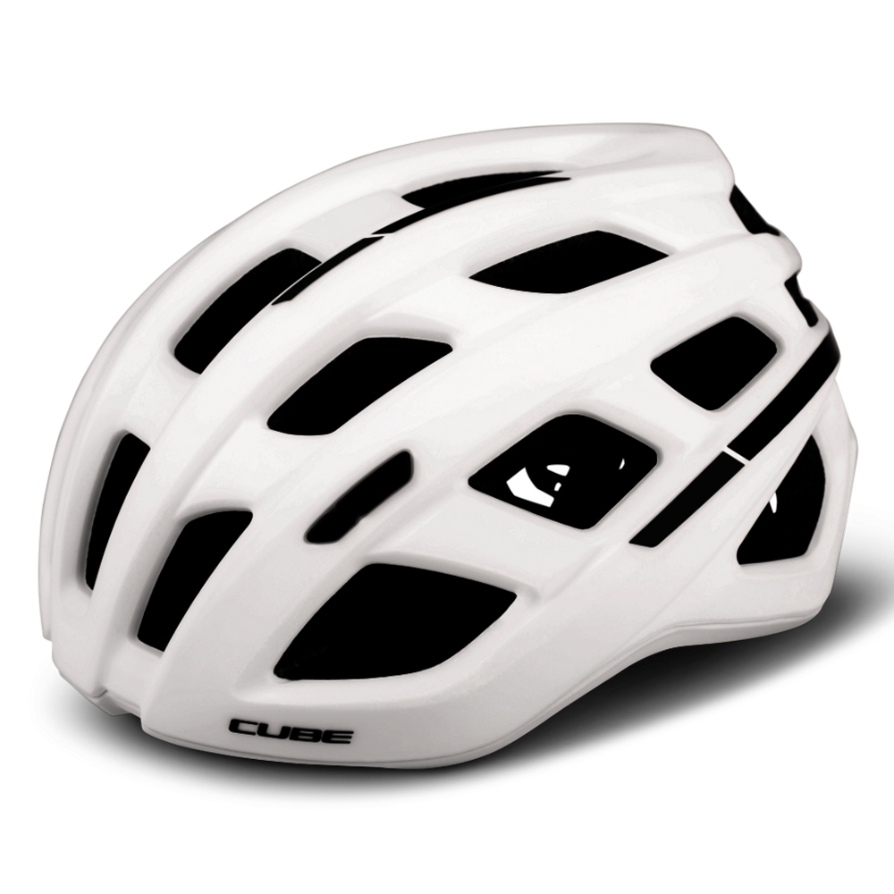 CUBE Helm ROAD RACE - white