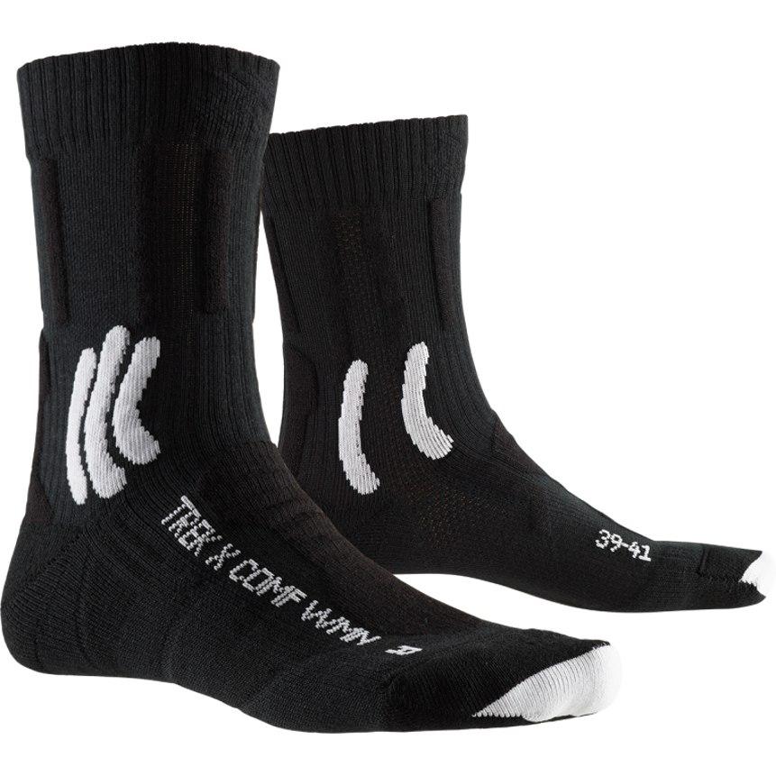 X-Socks Trek X Comfort Damensocken - opal black/arctic white