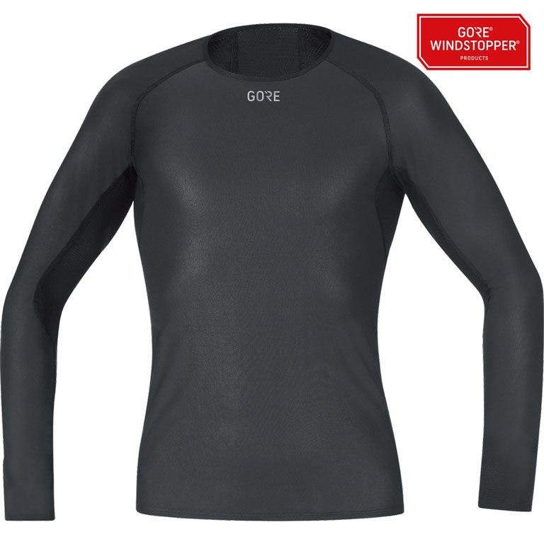 Foto de GORE Wear M GORE® WINDSTOPPER® Base Layer Camiseta manga larga - black 9900