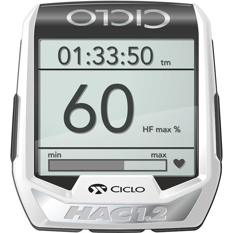 Ciclosport Ciclocontrol HAC 1.2+ Smartnavic - Navigation Computer + HRM + Cadence - black/white