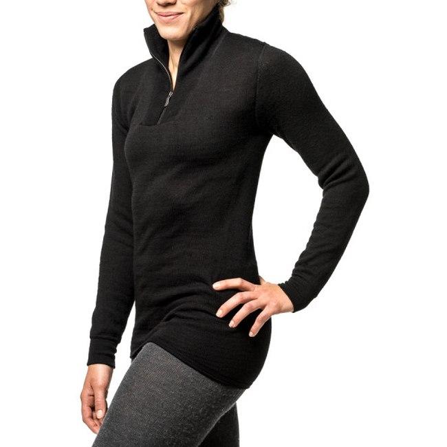 Bild von Woolpower Zip Turtleneck 400 Langarm-Shirt - schwarz
