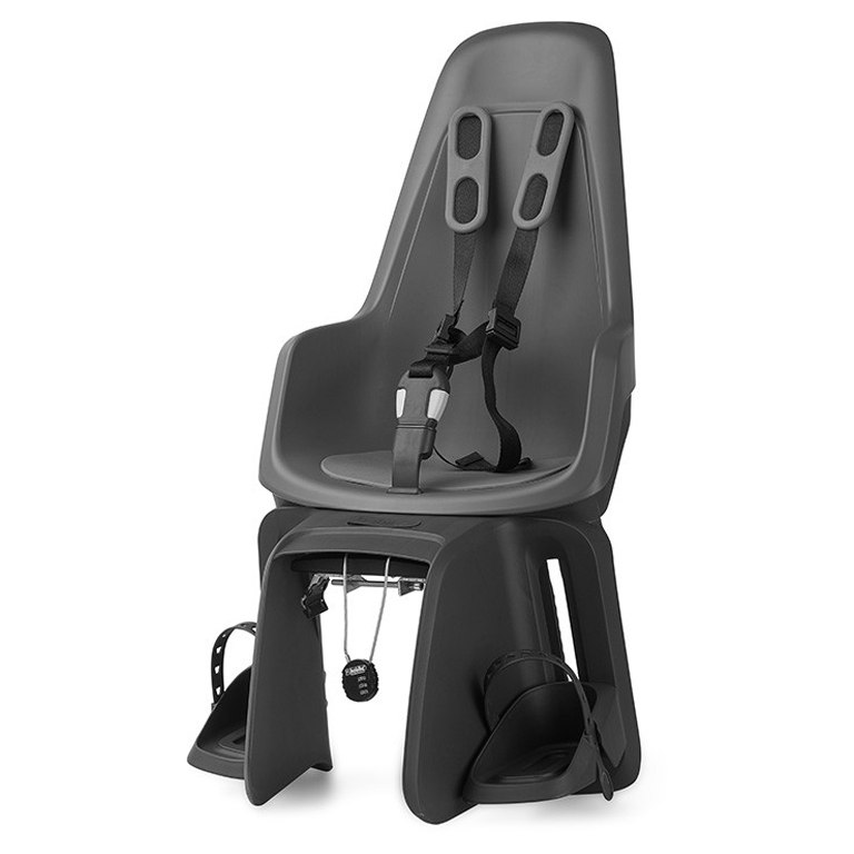 Image of Bobike ONE maxi E-BD - Bicycle Seat for Kids - Carrier Mount - Urban Grey