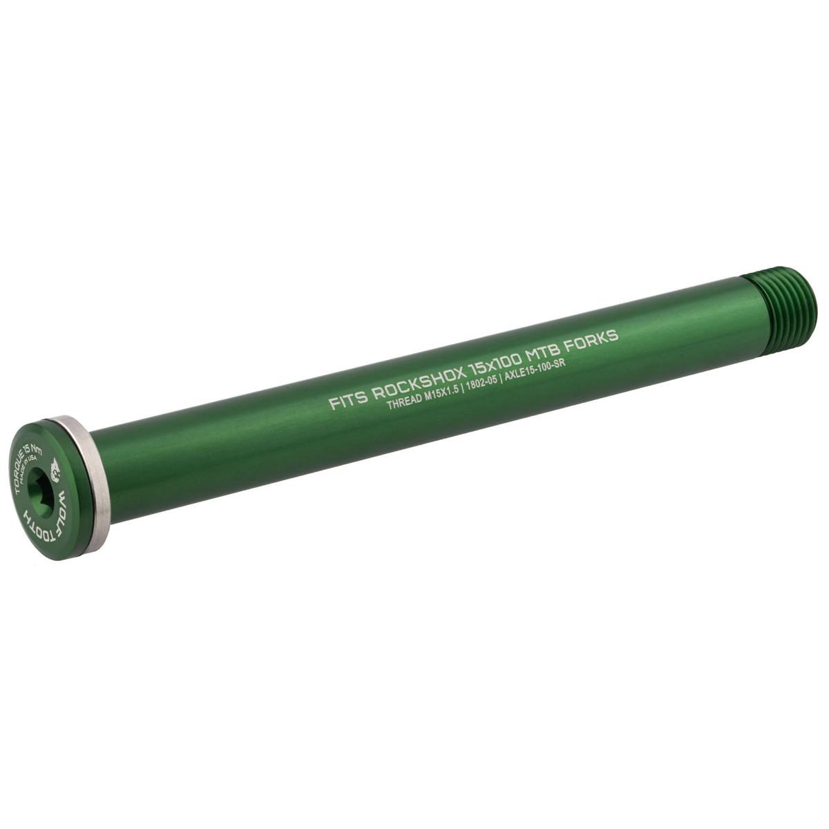 Wolf Tooth Steckachse für RockShox Gabeln - 15x100mm - grün