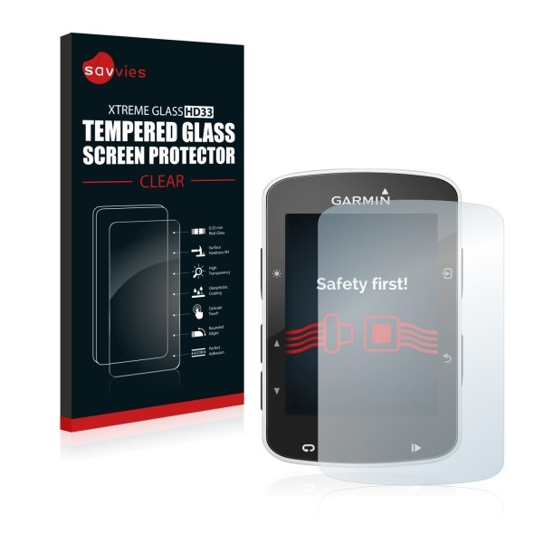 Bedifol Savvies® Xtreme Glass HD33 Clear Tempered Glass Screen Protector for Garmin Edge 520