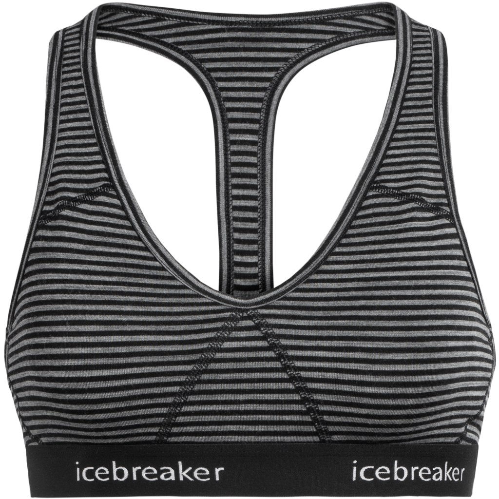 Icebreaker Sprite Racerback Damen Sport-BH - Gritstone HTHR