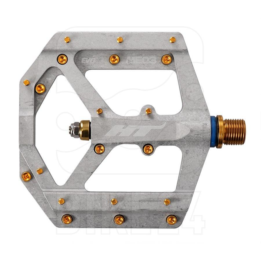 HT ME03T EVO+ Flat Pedal Magnesium / Titanium - raw
