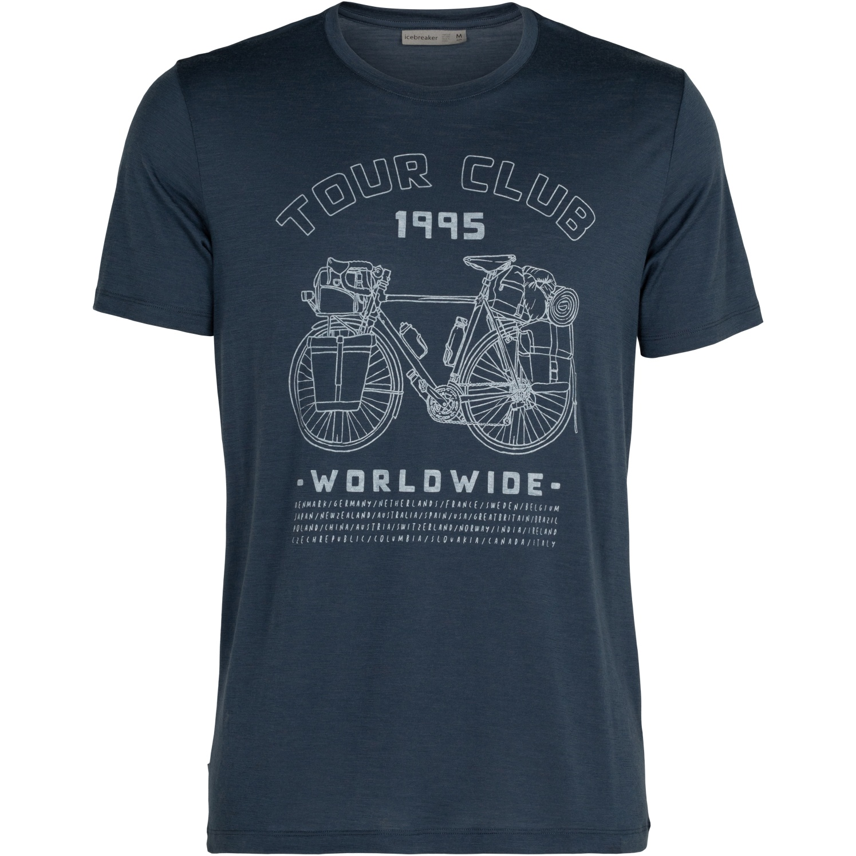 Foto de Icebreaker Tech Lite Crewe Tour Club 1995 Camiseta para Hombre - Serene Blue